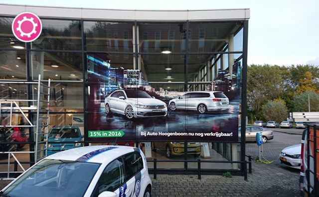 Raambelettering – Auto Hoogenboom