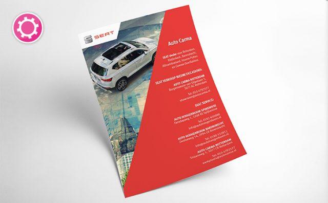 Contactkaart / mailing / inrichting showroom