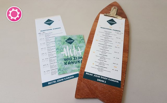 Kahuna Breda – Horeca-drukwerk