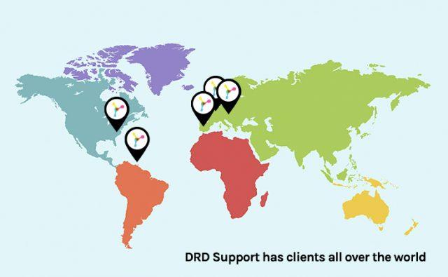 DRD Support levert over de hele wereld