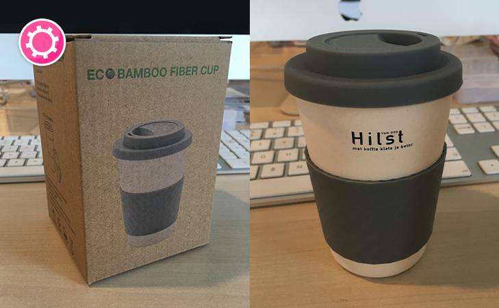 Van Hilst – Bedrukte koffiebeker