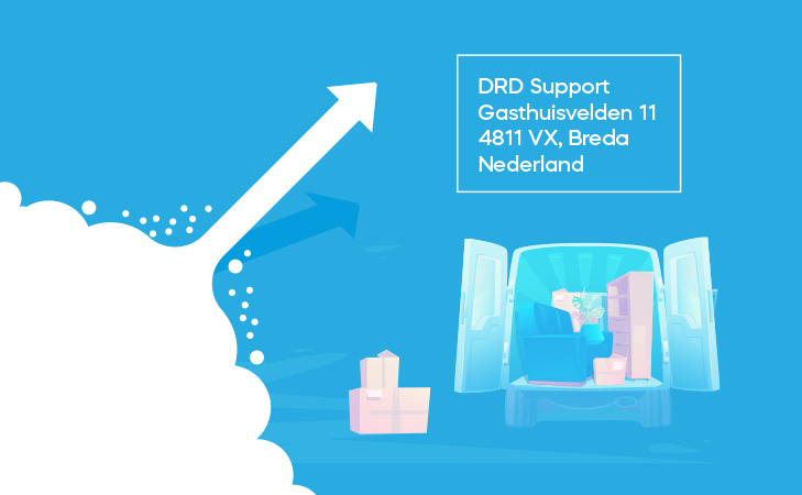 DRD Support is verhuisd